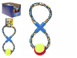 Playful Pets Figure of 8 Multi Coloured Rope with Dog Toy