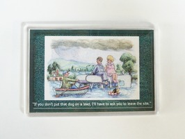 Armcher Motorhome Themed Fridge Magnet - 'Flooded Site'