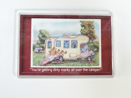 Armcher Motorhome Themed Fridge Magnet - 'Dirty Hands'