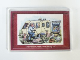 Armcher Caravan Themed Fridge Magnet - 'Sublime Pleasure'