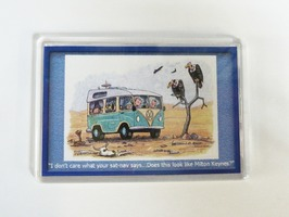 Armcher Campervan Themed Fridge Magnet - 'Milton Keynes'
