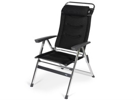 Kampa-Dometic Quattro Milano Aluminium High Back Reclining Chair - Pro Black