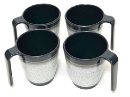 Granite Grey Stackable Melamine Mug Set 4