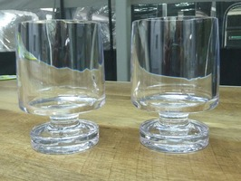 Flamefield  Heavy Base Stacking Acrylic Wine Goblet Clear - 2 Pack
