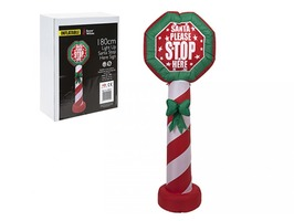 "180cm Inflatable ""Santa Stop Here"" Sign"