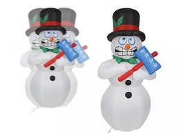 Inflatable Shivering Snowman with Lights 180cm