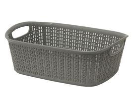JVL 3ltr Loop Storage Basket Grey