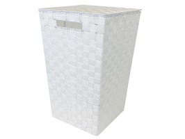 JVL Large Rectangular Laundry Basket White