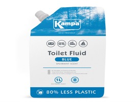 Kampa Blue Toilet Fluid 1 Litre Eco Refill  Pouch with Spearmint Scent