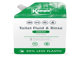 Green Toilet Fluid & Rinse 1 Litre Eco Refill Pouch