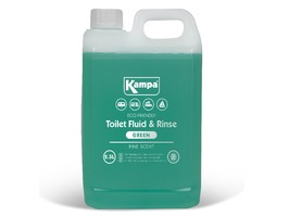Kampa Green Toilet Fluid & Rinse  2.5 Litre Bottle with Pine Scent