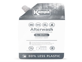 Kampa Afterwash Protective Coating 1 Litre Eco Refill  Pouch with Coconut Scent