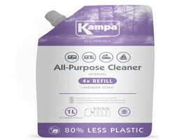Kampa Interior All-Purpose Internal Cleaner 1 Litre Eco Refill  Pouch with Lavender Scent