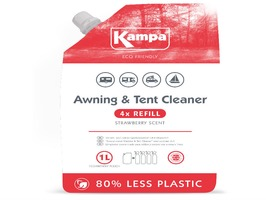 Kampa Awning & Tent Cleaner 1 Litre Eco Refill  Pouch with Strawberry Scent