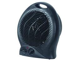 Kingavon 230V 2kW Upright Black Fan Heater