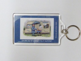 Armcher Caravan Themed Key Ringt - 'Joy Of Caravanning'