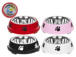 Large Belly Pet Feeding Bowl - Assorted Colours