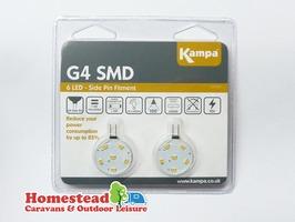 Kampa G4 SMD 12 LED 12V Bulb (Side Pin) - Pack 2