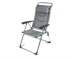 Kampa-Dometic Lusso Milano Aluminium High Back Reclining Chair - Pebble Grey