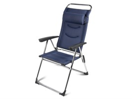Kampa Lusso Milano Aluminium High Back Reclining Chair - Steel Blue