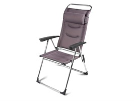 Kampa Lusso Milano Aluminium High Back Reclining Chair - Wild Heather