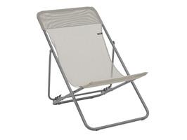 Lafuma Maxi Transat Batyline Iso Deck Chair-Seigle