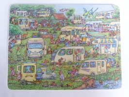 Amcher Humorous Cartoon 'Campsite' Themed Placemat - Single