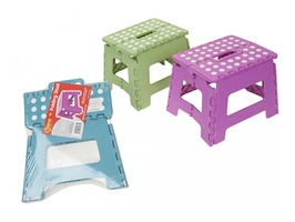 Heavy Quality Plastic Folding Step - Assorted Colours