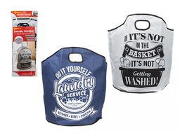Large Laundry Bag with Carry Handle - 2 Assorted Designs