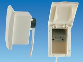 TND External Rectangular 13amp Socket Box