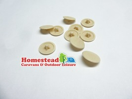 Pozi Screw Covers Beige - Pack of 10