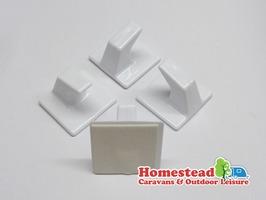 Small Square hooks White - Pack 4