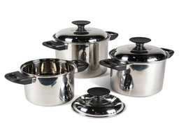 Kampa Space Saver Stainless Steel Cook Set
