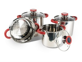 Kampa Space Saver Deluxe Stainless Steel Cook Set