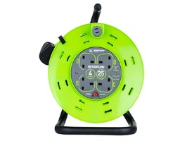 Status 25 Metres 13AMP 4 Socket Cable Reel with Thermal Cut Out