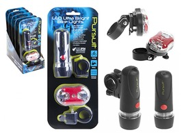 Pursuit Bright LED Front & Rear Bike Lights