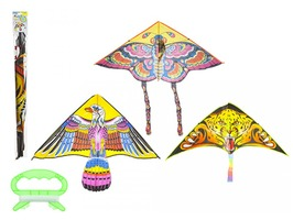Super Flying Kite with Tail 130 x 62cm - Assorted Designs