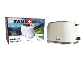 Swiss-Lux Deluxe Electric 2-Slice Toaster - White