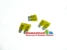 W4 20 Amp Blade Fuse - Pack of 3