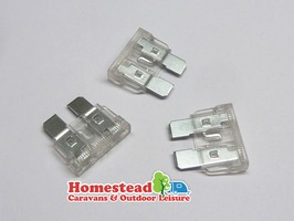 W4 25 Amp Blade Fuses Clear - Pack of 3