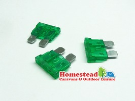 W4 30 Amp Blade Fuse - Pack of 3