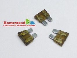 W4 7.5 Amp Blade Fuses Brown - Pack of 3