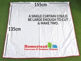 Westfield Tent / Awning Curtains Pair (W 155 x H 135cm)