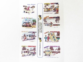 Humourous Motorhome Themed A6 Christmas Cards - 8 Pack