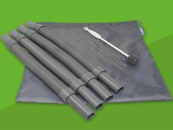 Collapsible Flexible and Extendable Caravan Waste Pipe System 4 x 1M Pipes, Carry Bag, Cleaning Brush Colapz Caravan Accessories