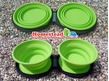 Camp4 Dog Bowl Twin with 2 Collapsible / Folding Silicone Bowls