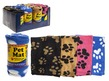 Pet Mat with Printed Paw Design 55 x 80cm - Assorted Colours